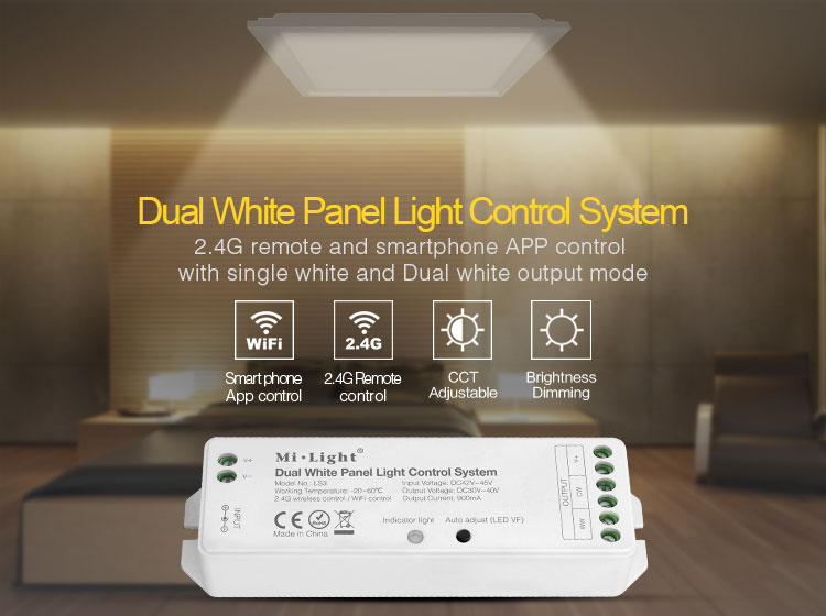 Warford free shipping 1 pcs Dimming Driver,2.4G wifi Dual White/5 IN 1/4 in 1 Smart led controller free shipping 5 pcs lot si4463 b1b fmr si4463 44631b qfn48 new in stock ic