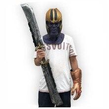 New Avengers 4Avengers Cosplay Tyrant Double-Edged Sword Weapon Helmet Latex Mask PVC Iuminous Infinite Gloves Show Props