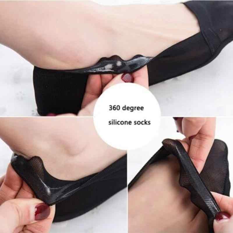 Kadın Düşük Görünmez Çorap Yumuşak Pamuk Yüksek Dantel Topuklu Çorap Boot Ped Çorap Kadın Nefes Terlik