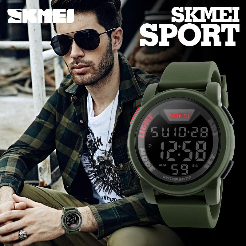 Prix pour Nouvelle Marque SKMEI Montre Hommes Militaires Sport Montres Multifonctions Mode Silicone Étanche LED Numérique Montre Pour Hommes Horloge