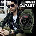 Nova marca skmei homens relógio militar relógios desportivos multifuncionais moda silicone relógio à prova d' água led relógio digital para homens