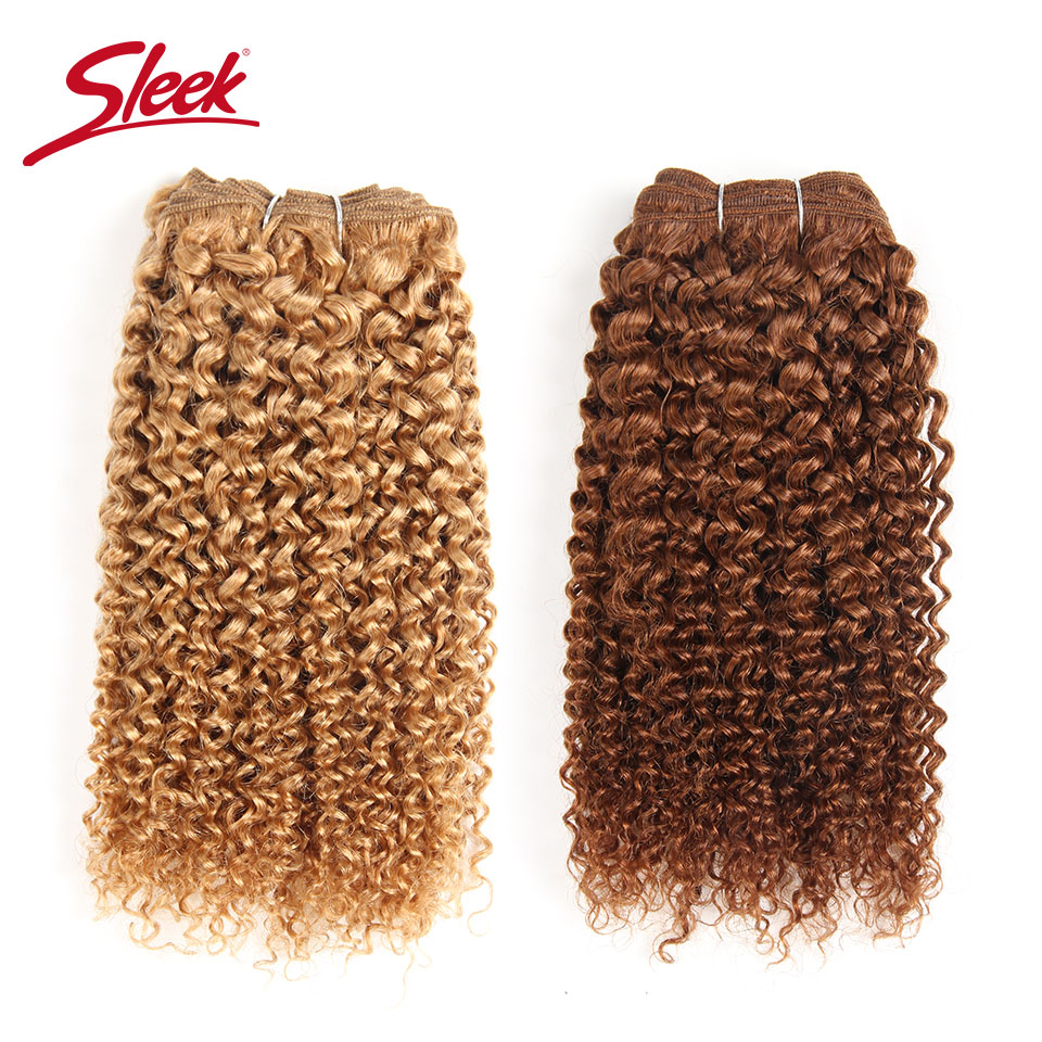 1 Piece Only Sleek Brazilian Bohemian Curl Human Hair Bundles Deals Remy Pure Color 1 1B 4 27 30 Hair Weave Extensions 100g