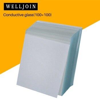 100x100x1.1mm, 12pcs Lab Transparent Conductive Indium Tin Oxide ITO Glass, <7 ohm/sq