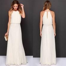 0c3874034 Women Dresses Casual Formal Long Chiffon Party Evening Bridesmaid Wedding Maxi  Dress Halter Plus Size Vestidos