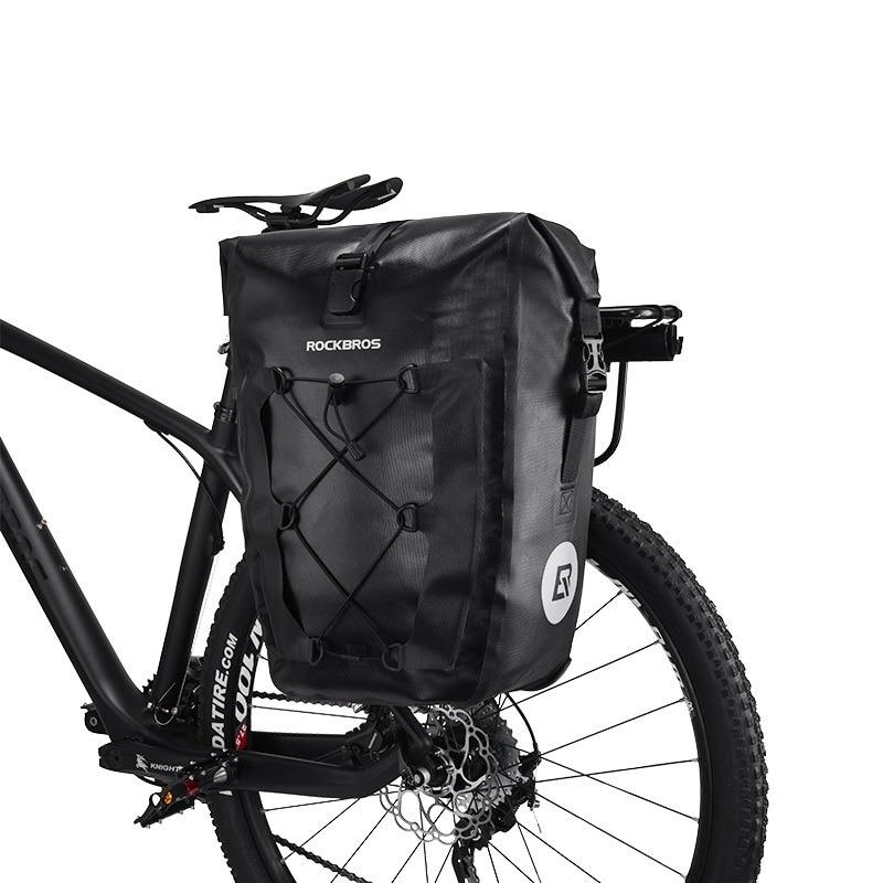 551c042d909 ROCKBROS los MTB bicicleta de carretera 27L bicicleta bolsa de viaje  impermeable reflectante montando bicicleta trasera