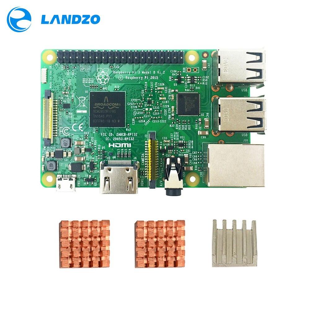 Original raspberry pi 3 modell b/raspberry pi/raspberry/pi3 b/pi 3/pi 3b mit wifi & bluetooth CPU Aluminium-kühlkörper