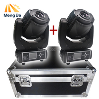 2pcs 90W Gobo LED+1 Flight case high power Moving Head Light 3 facet prism for Stage wedding Disco Nightclub Party stage
