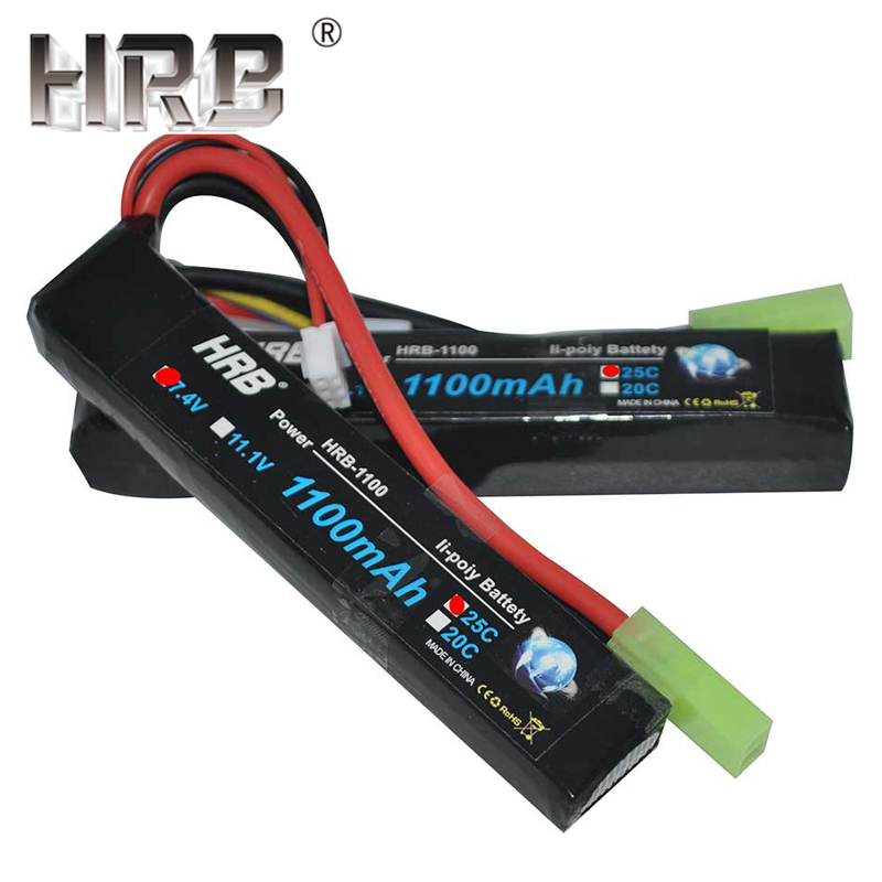 HRB Water Gun Lipo Battery 3S 2S 7.4V 11.1V 1100mAh 25C Tamiya Connector AKKU Mini Airsoft BB Air Pistol Electric Toys RC Parts-in Parts & Accessories from Toys & Hobbies