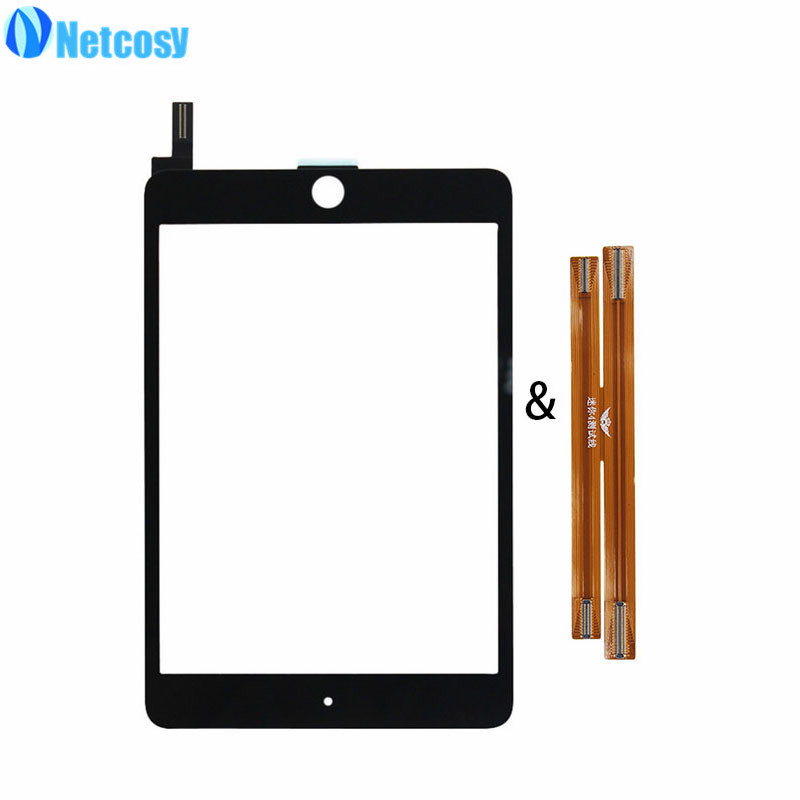 Netcosy For ipad mini 4 Mini4 Touchscreen Black / White Touch screen digitizer panel for ipad mini 4 & TP LCD test flex Cable original touch screen digitizer for ipad mini2 white black new tp ic replacement glass screen