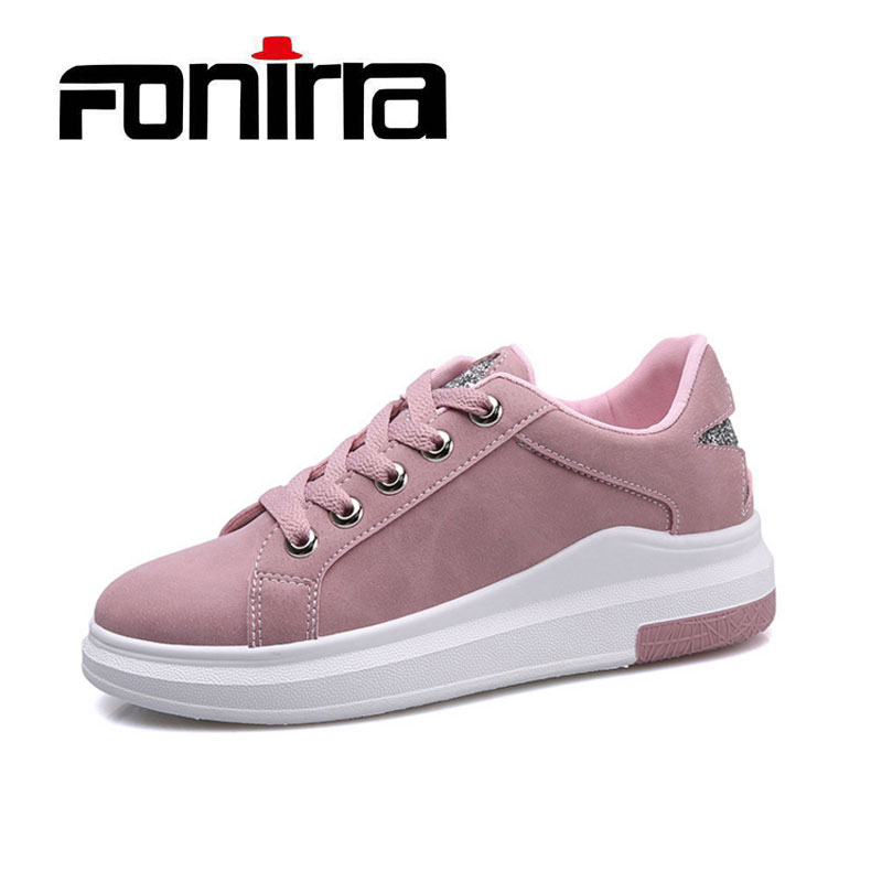 2018 Spring Women New sneakers Autumn Soft Comfortable Casual Shoes Fashion Lady Flats Female shoes for student FONIRRA 180 new 2018 spring summer shoes women flats soft leather fashion women s casual brand shoes breathable comfortable