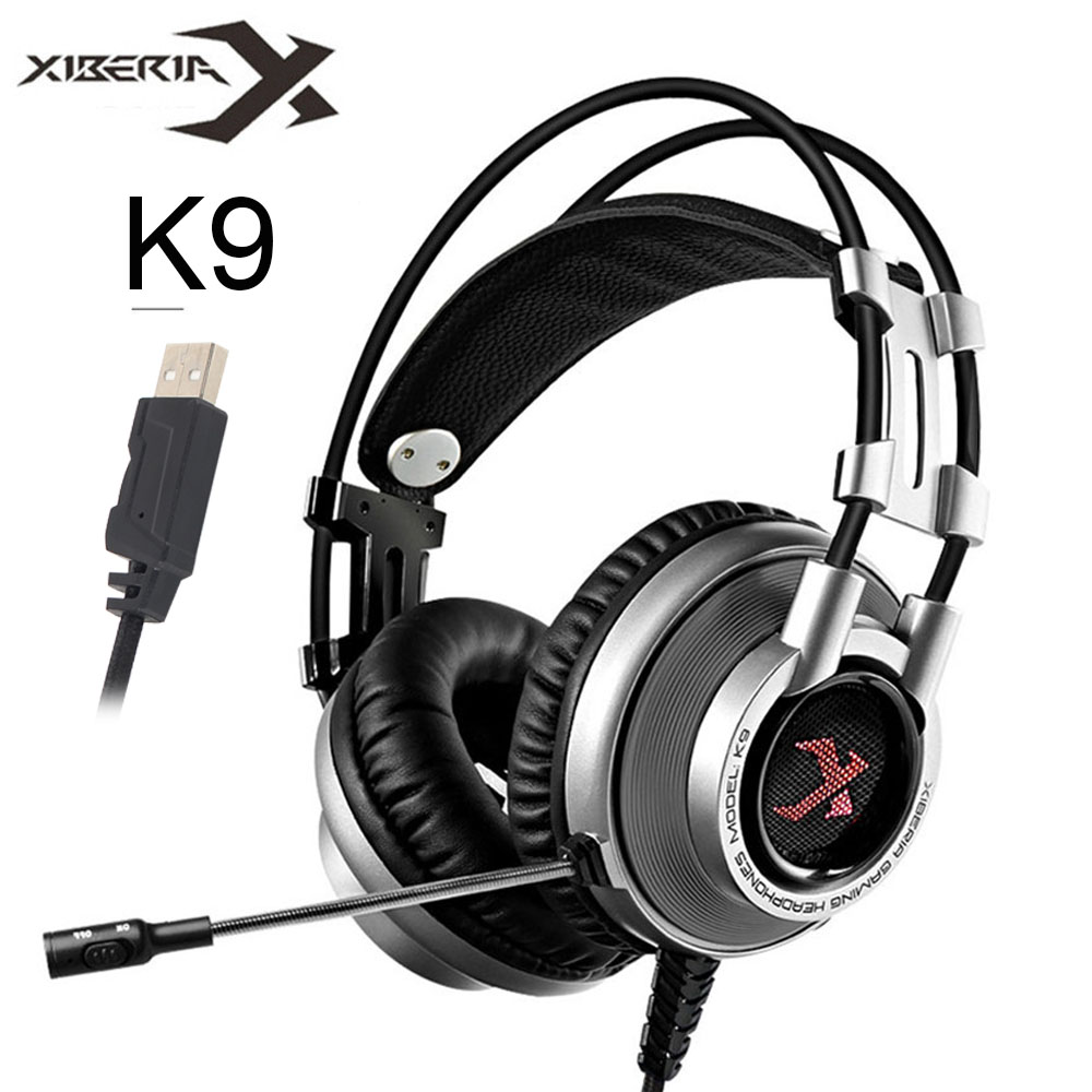 XIBERIA K9 Virtual 7.1 Sound Gaming Headset casque Best PC Gamer USB Stereo Bass Headphones with Microphone for Cumputer Game (1)