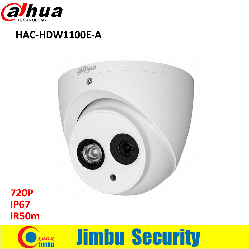 DAHUA HDCVI 1MP DOME Camera HAC-HDW1100E-A 1/2.9 CMOS 720P IR 50M IP66 security camera built in mic PAL dahua outdoor indoor hdcvi camera dh hac hdw1100e 1mp hd network ir security cctv dome camera ir distance 40m hac hdw1100e ip67