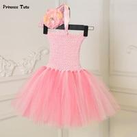 Baby Girl Dress Pink 1 Year Birthday Dress Newborn Infant Wedding Party Tutu Dress Princess Baby