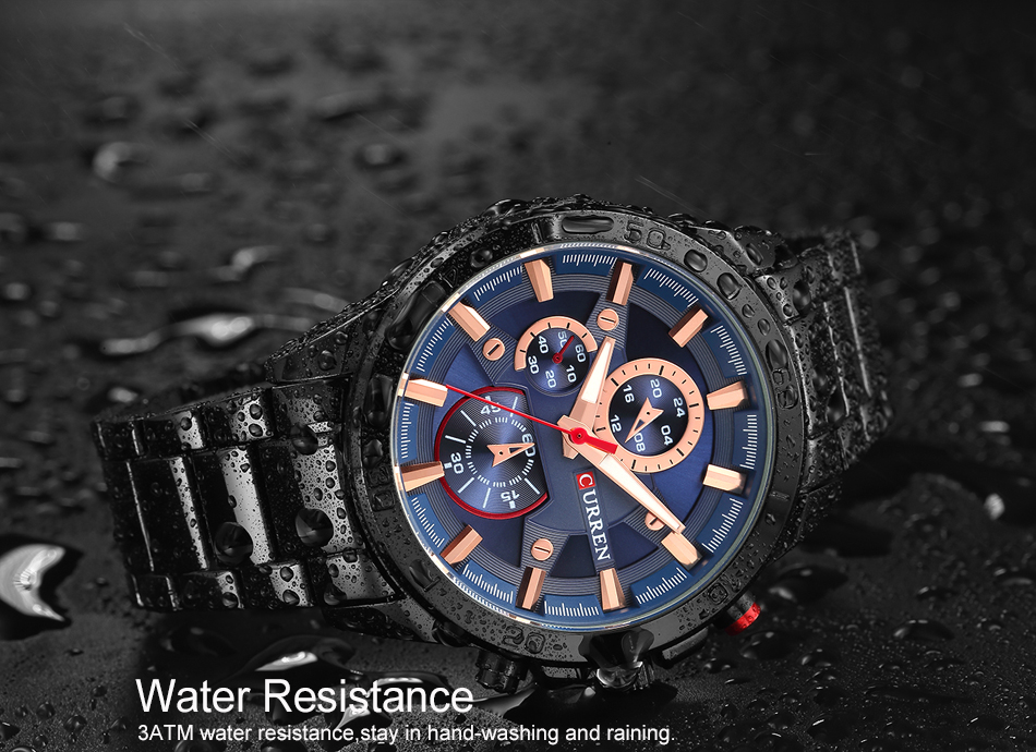 CURREN Luxury Brand Men Watch Fashion Analog Sports Wristwatches Casual Quartz Full Steel Band Male Clock Relogio Masculino