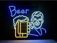 Vidro personalizado Bar Pub Aberto Beer Bar Luz Neon Sign|Lâmpadas de néon e tubos| |  -