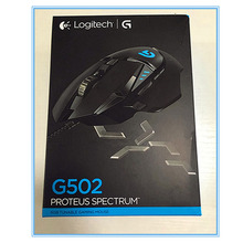 100% genuine English packaging Logitech G502 RGB LED Proteus Spectrum Tunable Laser Gaming mouse USB Wired 12000DPI Gamer mice(China)
