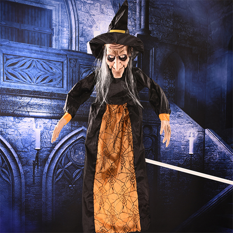 Animated Witch Horror Halloween Decorations Electric