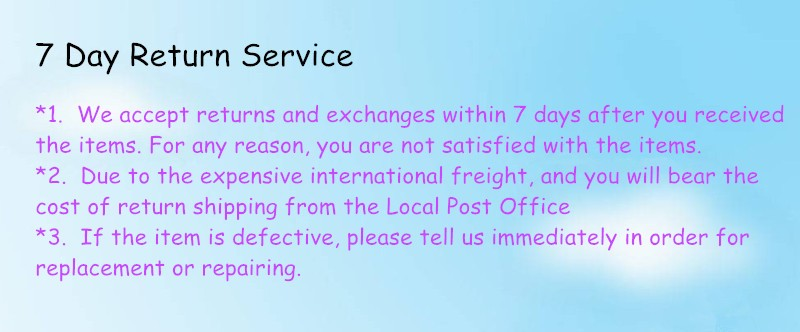 7 day return service