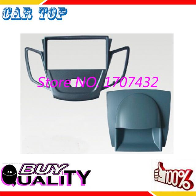 De calidad superior 2 DIN Car Radio Fascia para FORD Fiesta 2008-2011 estéreo de pantalla frame panel facia dash mount kit adaptador de ajuste del Bisel