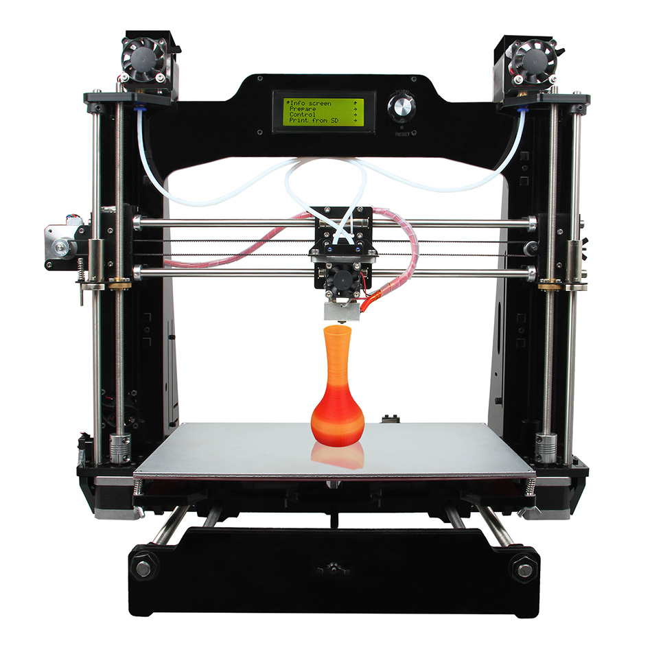 Geeetech Prusa I3 M201 3D Printer 2-In-1-out Extruder Acrylic Frame Reprap DIY Printing Kits geeetech m201 3d printer 2 in 1 out extruder reprap prusa i3 diy kit stl g code high resolution impressora lcd