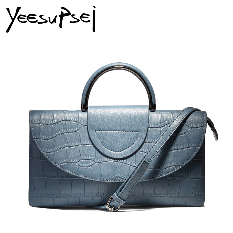 YeeSupSei Real Leather Women Bag Fashion Female Purse Party Evening Hard Handle Clutch Alligator Handbag Messenger Shoulder Bag naivety new fashion women tassel clutch purse bag pu leather handbag evening party satchel s61222 drop shipping