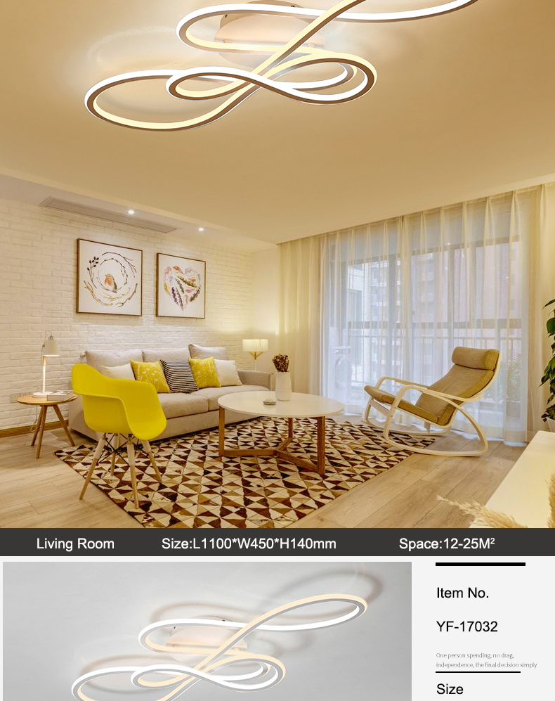 HTB19jAdbcnrK1RjSspkq6yuvXXaO NEO Gleam Double Glow modern led ceiling lights for living room bedroom lamparas de techo dimming ceiling lights lamp fixtures