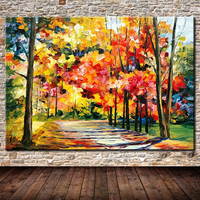 Large Size canvas wall art abstract modern decorative pictures Autumn Scenery oil painting on canvas for living room decoration