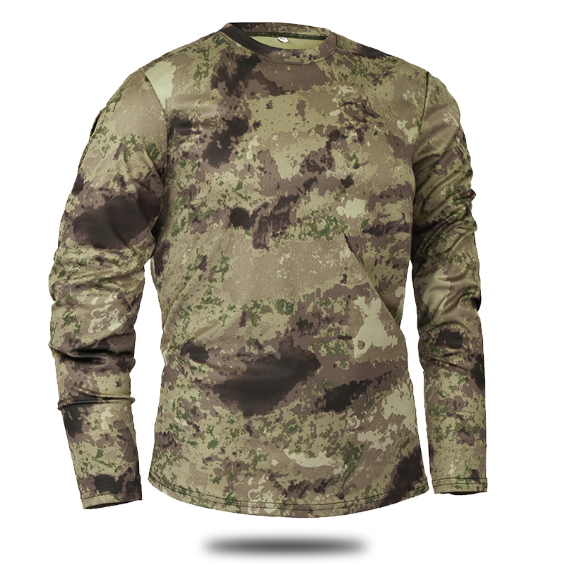 Mege Brand Clothing New Autumn Spring Men Long Sleeve Tactical Camouflage T-shirt camisa masculina Quick Dry Military Army shirt 2
