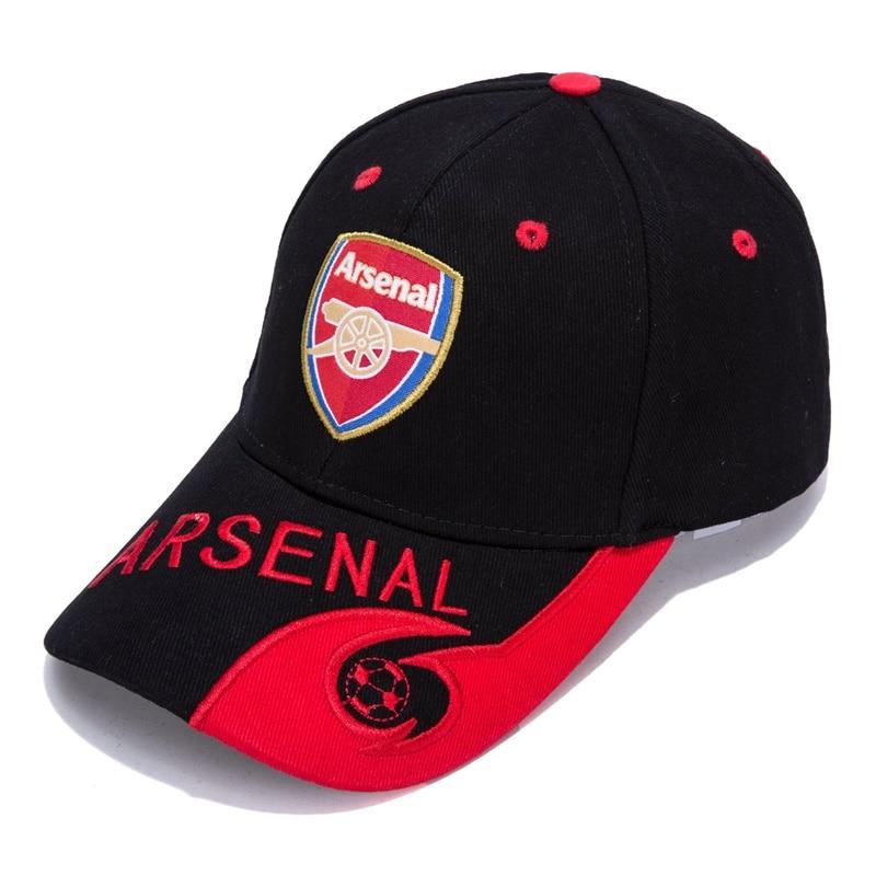 Arsenal Black/Red F.C Embroidered Outdooors Adjustable Men's   Baseball     Cap   For Soccer Fans