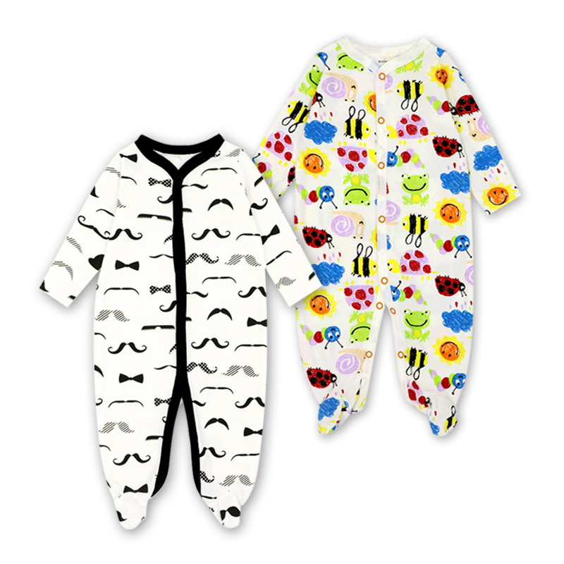 Cute Winter Baby Clothes Pajamas Newborn 2pcs/lot Baby Rompers Infant Long Sleeve Jumpsuits Boys Girl Spring Autumn bebe Clothes unisex baby boys girls clothes long sleeve polka dot print winter baby rompers newborn baby clothing jumpsuits rompers 0 24m