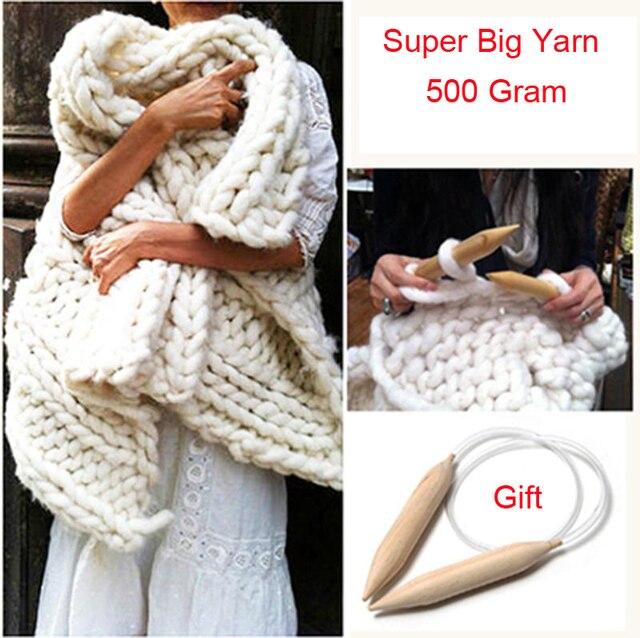 Super Big Wool Feel Yarn Home Diy Hand Knit Giant Wool Yarn Crochet