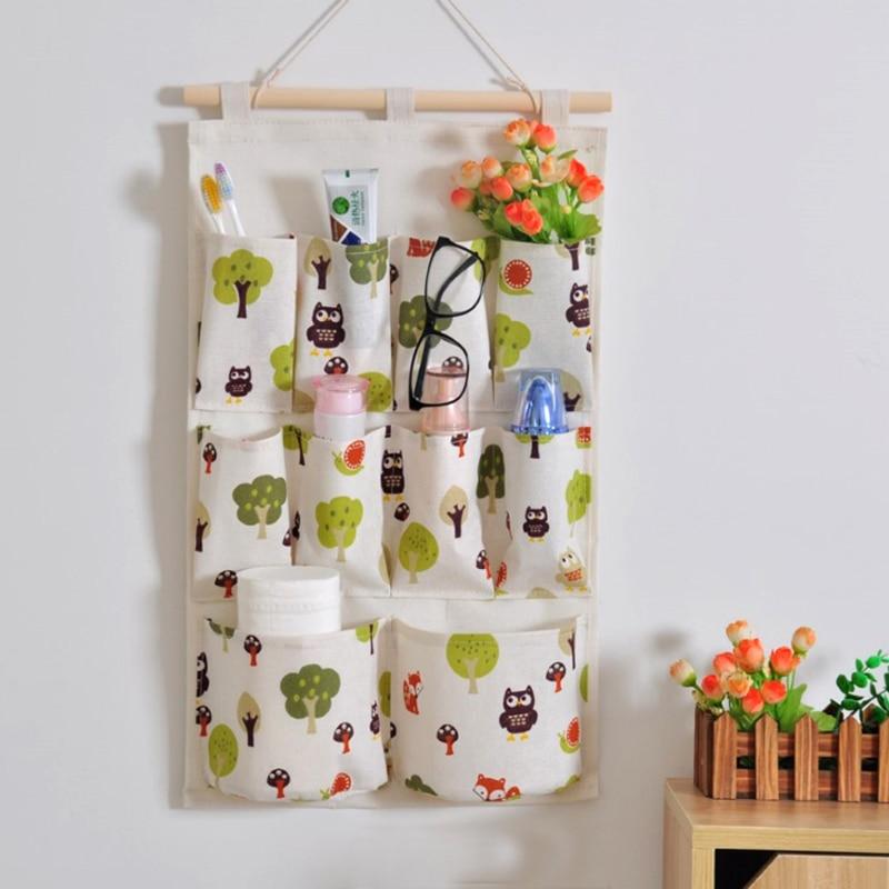 Hanging Organizer Wall Wardrobe Hanging Pockets Jewelry