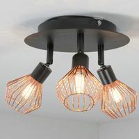 Işıklar ve Aydınlatma'ten Tavan Işıkları'de G9 LED Tavan Spot Vintage LED yatak odası dekoratif Spot Motent 3 Kafa monte lamba sıcak/beyaz işık