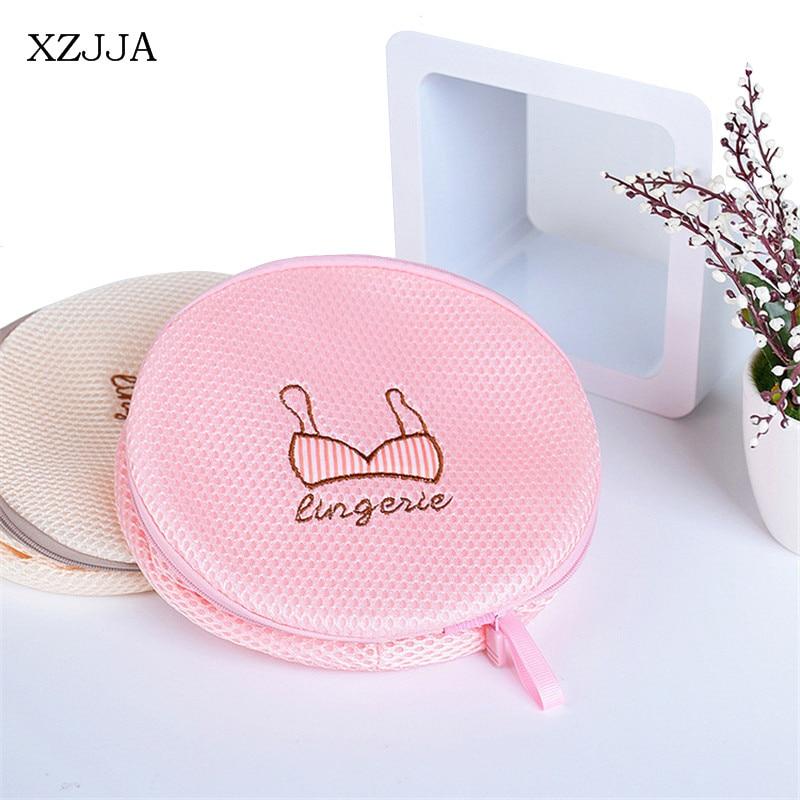 XZJJA 1PC Polyester Laundry Bags Clothing Underwear Bra Socks Washing Pouch Washing Machine Mesh Bag Zipper Protector Net Case