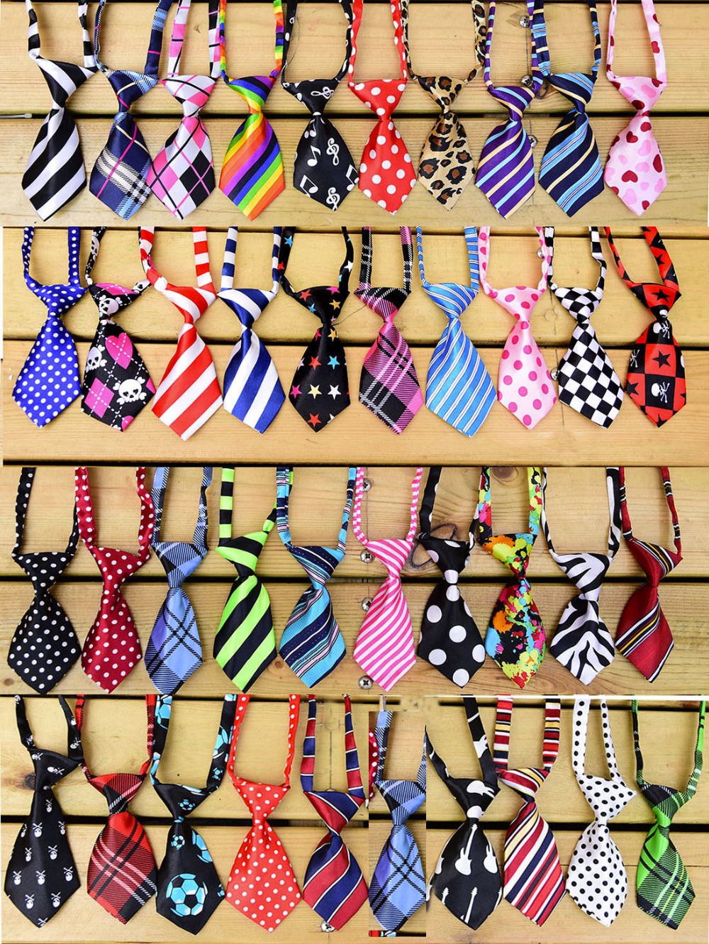 100pcs Pet Dog Neckties Adjustable Cat Dog Ties Bowties Ties  Pet Grooming  Supplies  Pet Shop Dog Accessories Mix 40 Colours