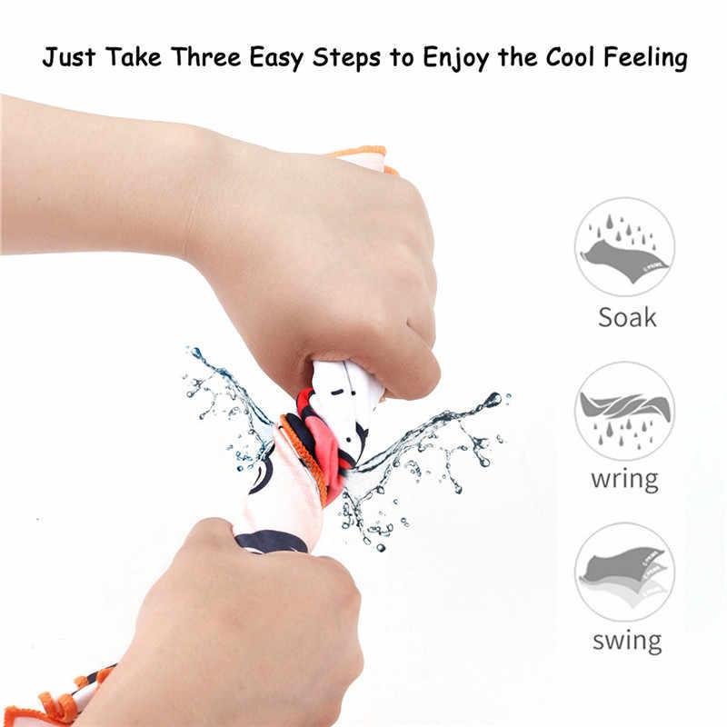 2019 nowy natychmiastowe chłodzenie ręczniki kąpielowe drukowane pobyt fajne szyi Wrap na kemping trening siłownia joga pływania Running wieża golfowa