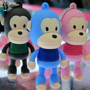 8 Colors Big Monkey Cute USB Flash Drive Pen Drive USB2.0 8GB 16GB 32GB 64GB Pendrive Cartoon USB Stick Gift Gifts