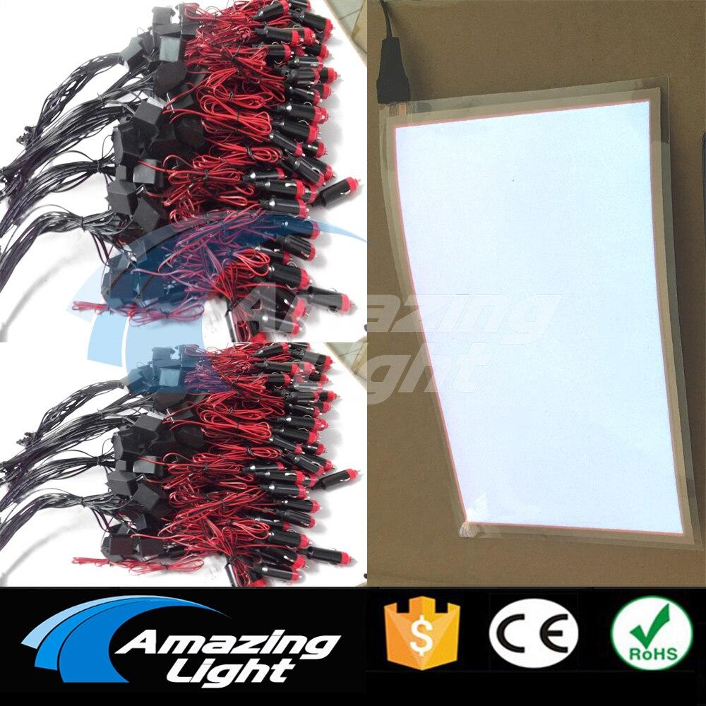 Amazing light White color A6 el panel el backlight sheet with DC12V inverter