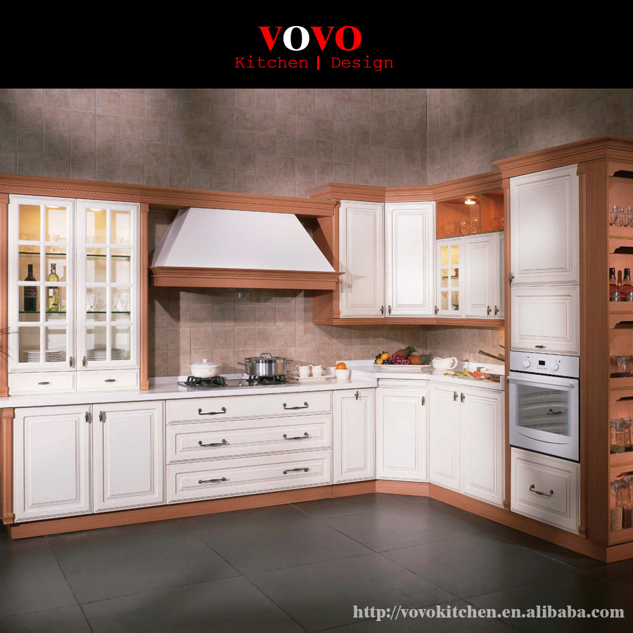 American style kitchen - American Style Solid Wood Kitchen Cabinets White Colour