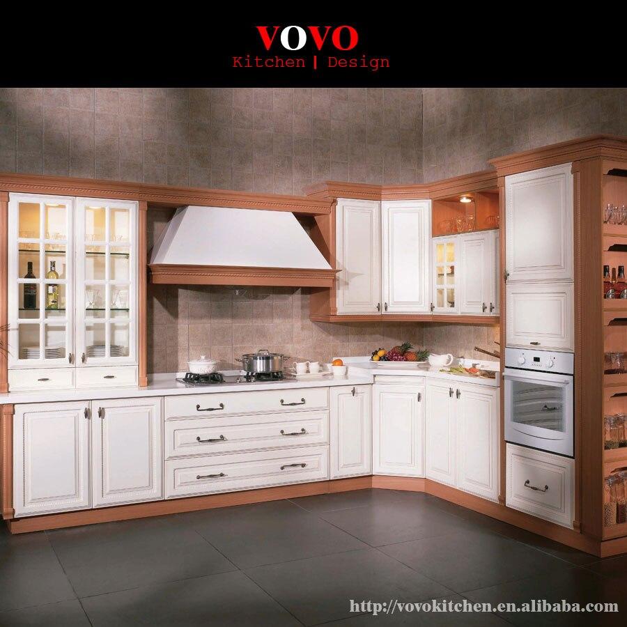 Estilo americano de madera sólida gabinetes de cocina de color ...