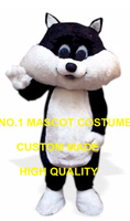 Cute Anime Cosply Costumes Black & White Kitten Cat Mascot Costume Adult Cartoon Character Mascotte Fancy Dress Suit Kits 1914