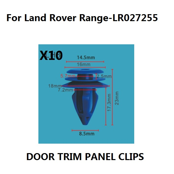 x10 For Land Rover Range Rover Evoque Plastic Clips for Front & Rear Wheel Arch Trim,OE#LR027255 New