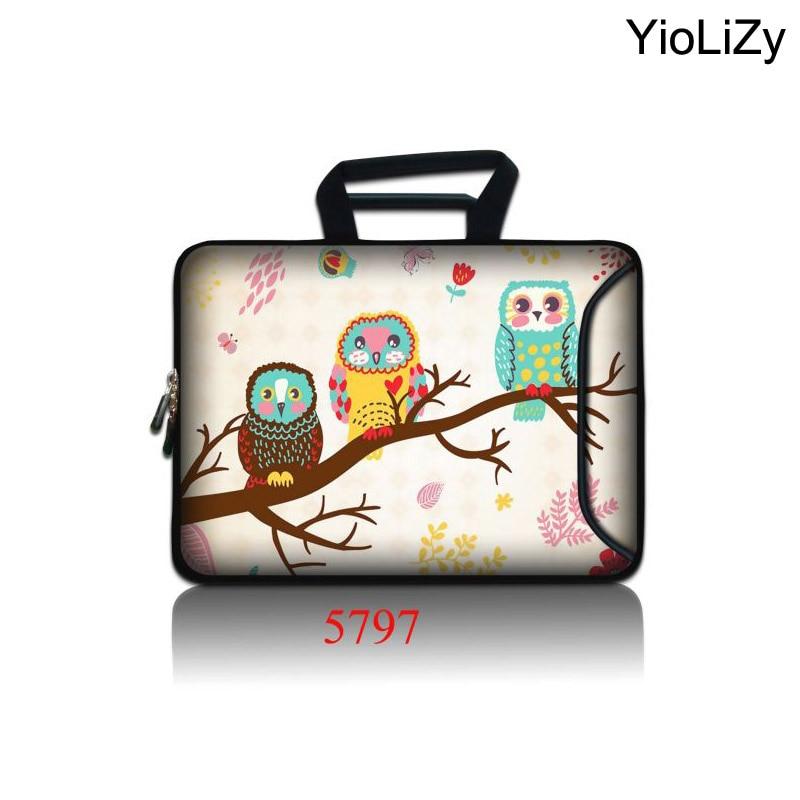 OWL print 15.6 Laptop Bag Case Handbag tablet cover 10.1 11.6 13.3 14.1 17.3 Notebook sleeve computer bags for women SBP-5797