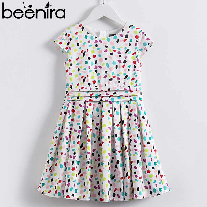 Beenira Kids Dresses 2019 European And American Style Girls Colorful Dots Summer Dress Design 4-14Year Children  Princess DressBeenira Kids Dresses 2019 European And American Style Girls Colorful Dots Summer Dress Design 4-14Year Children  Princess Dress