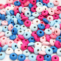 Wooden Beads 200pcs Styles Spacer Beading Wood Beads 12mm Toys For Baby DIY Kids Toys Makeing Bracelet Necklace