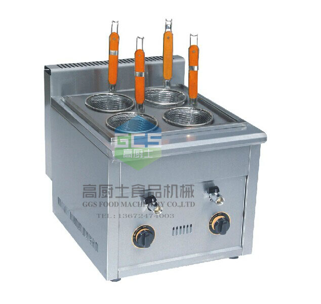 Free shipping Gas type 4 holes Noodles cooker machine
