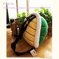 2016 Bonito Turtle shell mochila de pelúcia animal verde saco de Presente o saco de escola do jardim de Infância Para Crianças Mochila Infantil