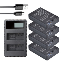 4Pcs EN-EL14 EN EL14 Battery + LCD Dual Charger for Nikon D3100 D3200 D3300 D5100 D5200 D5300 D5500 DF P7000 P7100 P7700 P7800 en el14 battery charging cradle for nikon en el14 100 240v 2 flat pin plug