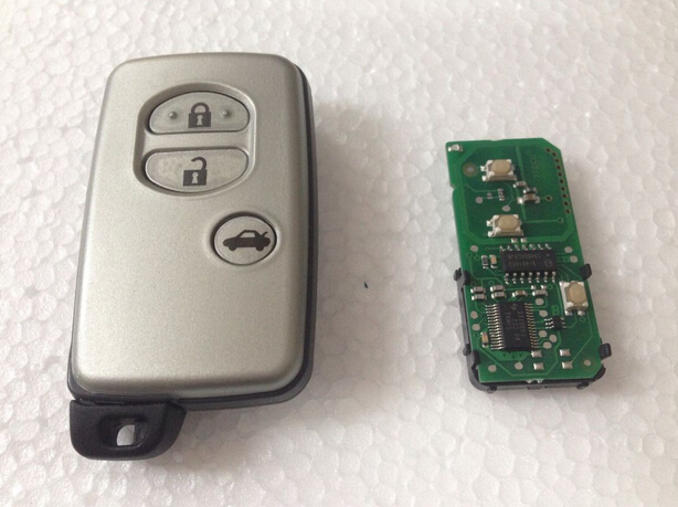 3 Buttons Smart Remote Key For Toyota Camry Reiz Pardo 434Mhz ID71 Chip With Toy48 Key Blade(0140 WD03 WD04) 2005 2008 Year