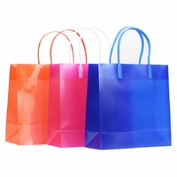 10pcs/lot 20*20*8cm PP Frosting Gift Bag Plastic Hand Bag Party Wedding Shopping Bag With Handle Free Shipping